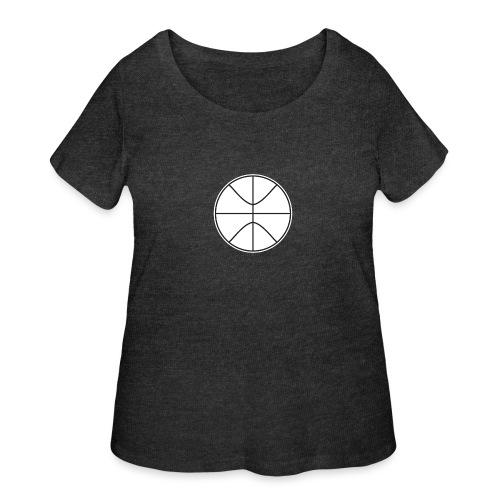 Basketball black and white - Women's Curvy T-Shirt