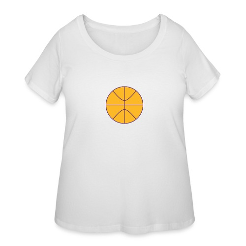 Basketball purple and gold - Women's Curvy T-Shirt