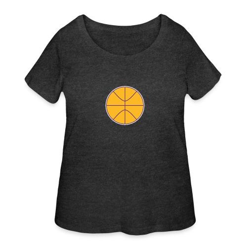 Basketball purple and gold - Women's Curvy T-Shirt