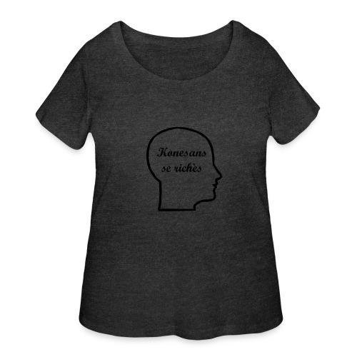 Konesans se richès - Knowledge is power - Women's Curvy T-Shirt