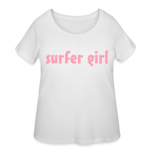 surfer girl - surfing - Women's Curvy T-Shirt