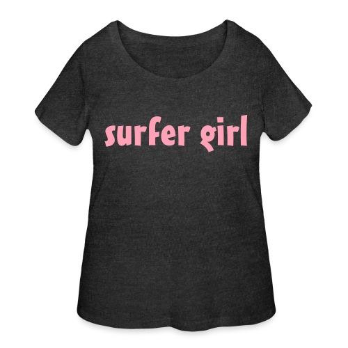 surfer girl - surfing - Women's Curvy T-Shirt