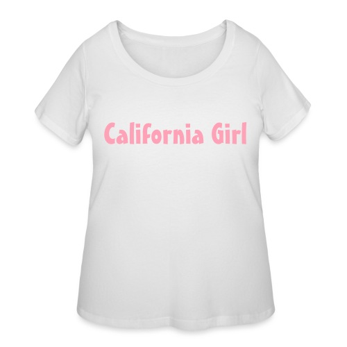 California Girl - Women's Curvy T-Shirt