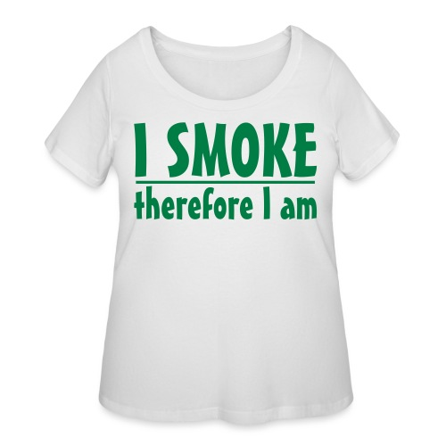 therfore smoke ss - Women's Curvy T-Shirt