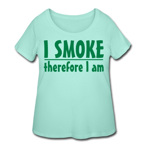 therfore smoke ss - Women's Curvy T-Shirt