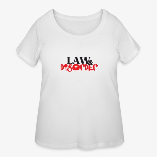 Law DISORDER Logo - Women's Curvy T-Shirt