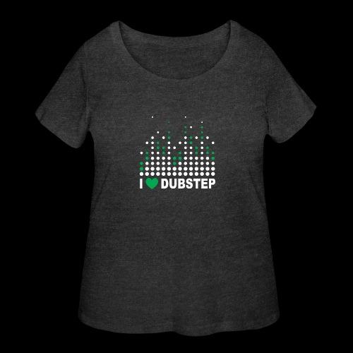 I heart dubstep - Women's Curvy T-Shirt