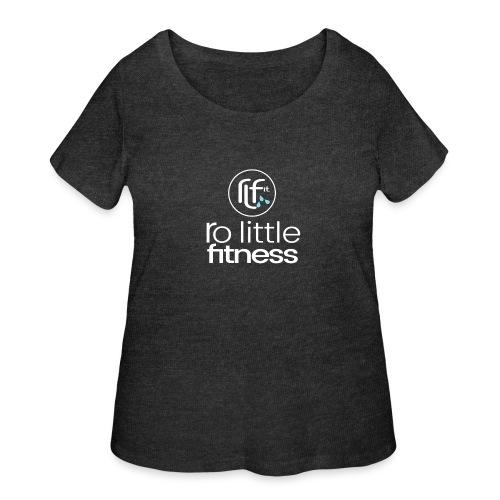 Ro Little Fitness - outline logo - Women's Curvy T-Shirt