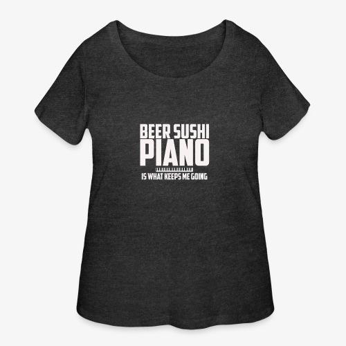 BEER SUSHI PIANO T-SHIRT - Women's Curvy T-Shirt