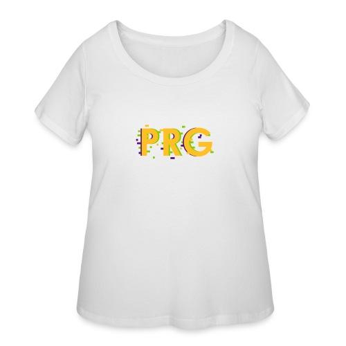 PRG distorted Neon libertarian Design - Women's Curvy T-Shirt