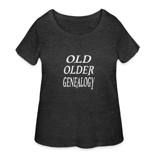 Old older genealogy family tree funny gift - Women's Curvy T-Shirt