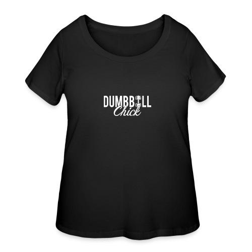 Dumbbell Fitness Chick - Women's Curvy T-Shirt