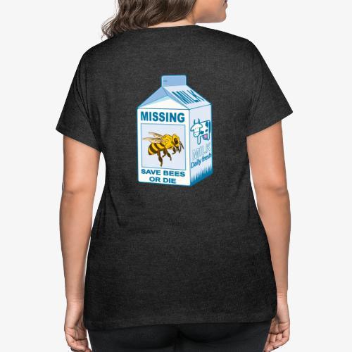 Missing Bees - Women's Curvy T-Shirt