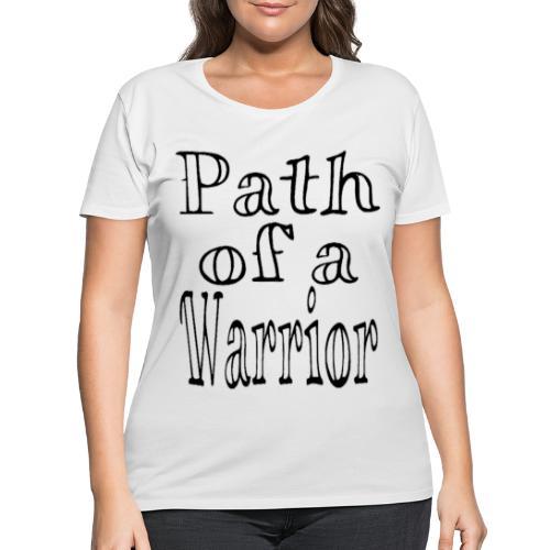 Path of a Warrior (White) - Women's Curvy T-Shirt