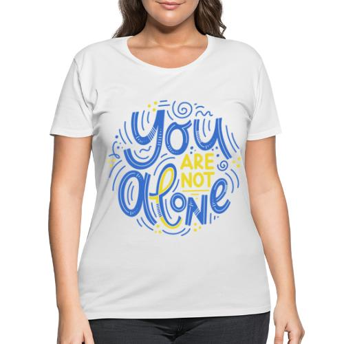 You are not alone - Women's Curvy T-Shirt