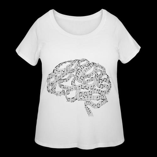 Sound of Mind | Audiophile's Brain - Women's Curvy T-Shirt