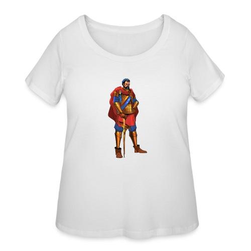 king png - Women's Curvy T-Shirt