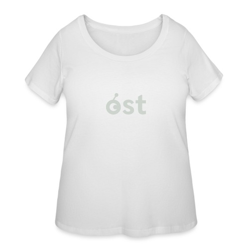 ost logo in grey - Women's Curvy T-Shirt