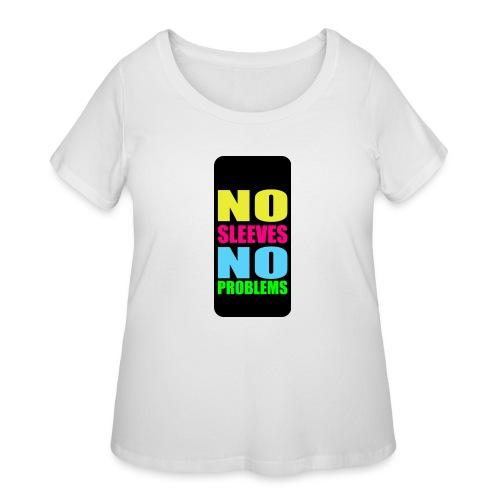 neonnosleevesiphone5 - Women's Curvy T-Shirt