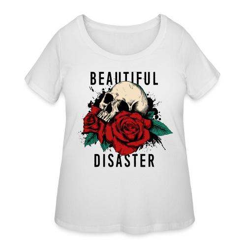 skull roses - Women's Curvy T-Shirt