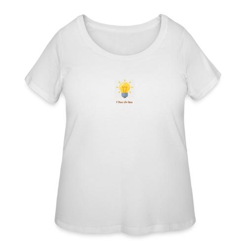 Idea Bulb - Women's Curvy T-Shirt
