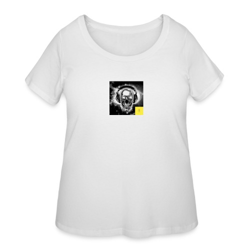 skull - Women's Curvy T-Shirt