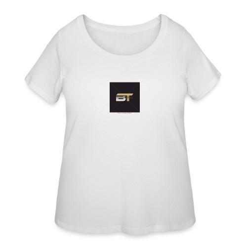 BT logo golden - Women's Curvy T-Shirt