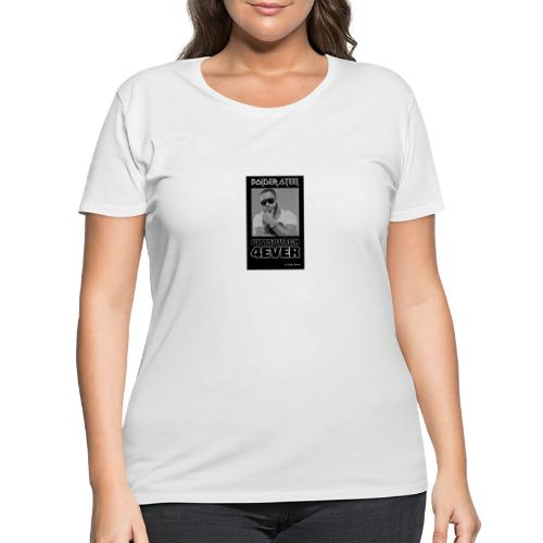 BOLDER STEEL PITTSBURGH 4EVER BLACK WHITE - Women's Curvy T-Shirt