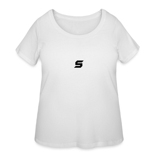 A s to rep my logo - Women's Curvy T-Shirt