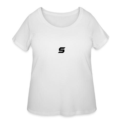 A s to rep my logo - Women's Curvy T-Shirt