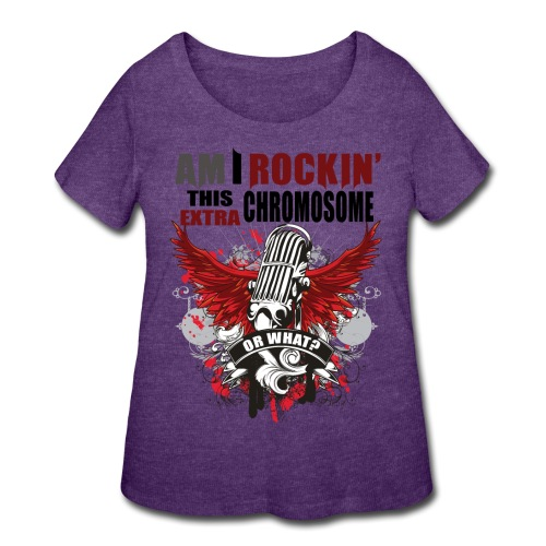 Rocking my extra chromosome - Women's Curvy T-Shirt