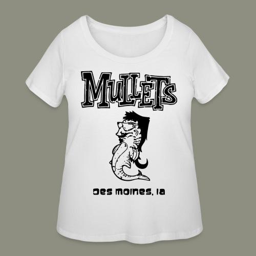 mulletmain black - Women's Curvy T-Shirt