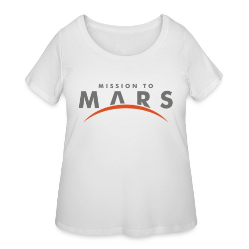 mission to mars - Women's Curvy T-Shirt