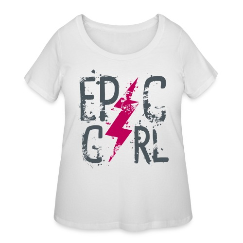 epic girl - Women's Curvy T-Shirt