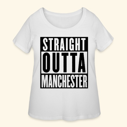 STRAIGHT OUTTA MANCHESTER - Women's Curvy T-Shirt