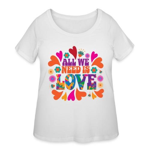 need love peace - Women's Curvy T-Shirt