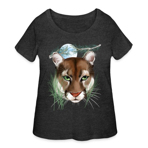 Midnight Puma - Women's Curvy T-Shirt