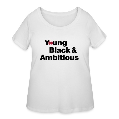 YBA white and gray shirt - Women's Curvy T-Shirt