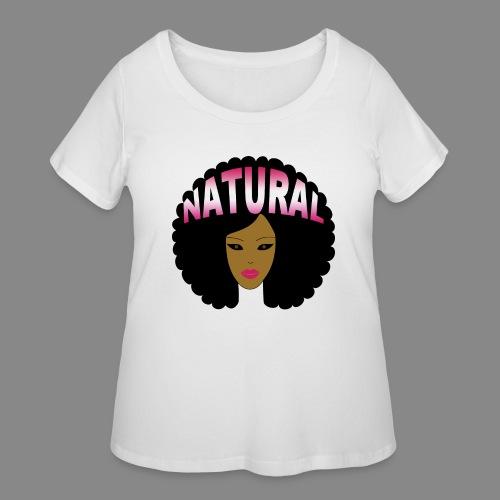 Natural Afro (Pink) - Women's Curvy T-Shirt