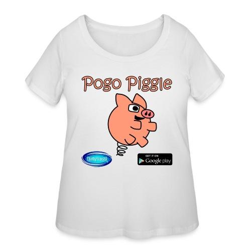 Pogo Piggle - Women's Curvy T-Shirt