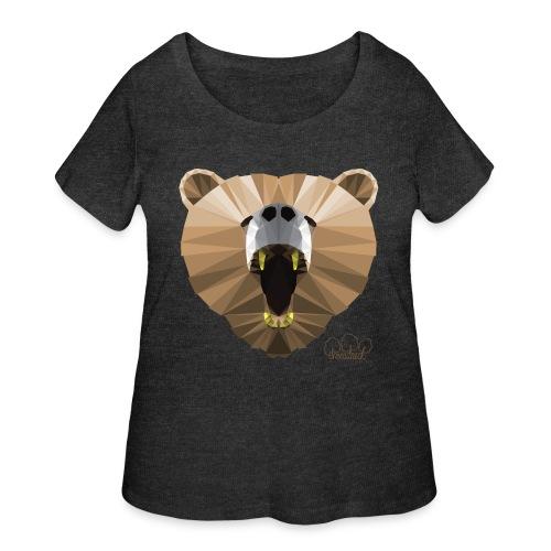 Hungry Bear Women's V-Neck T-Shirt - Women's Curvy T-Shirt