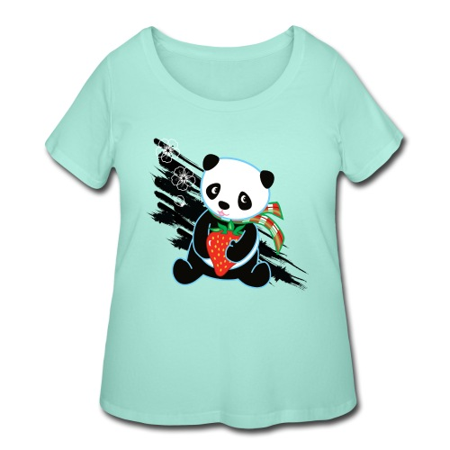 Cute Kawaii Panda T-shirt by Banzai Chicks - Women's Curvy T-Shirt