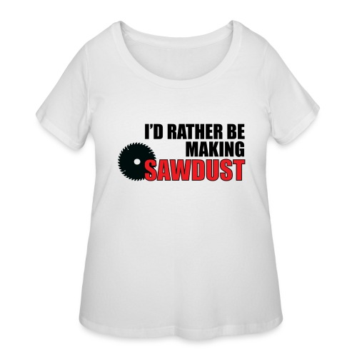 I'd Rather Be - Women's Curvy T-Shirt
