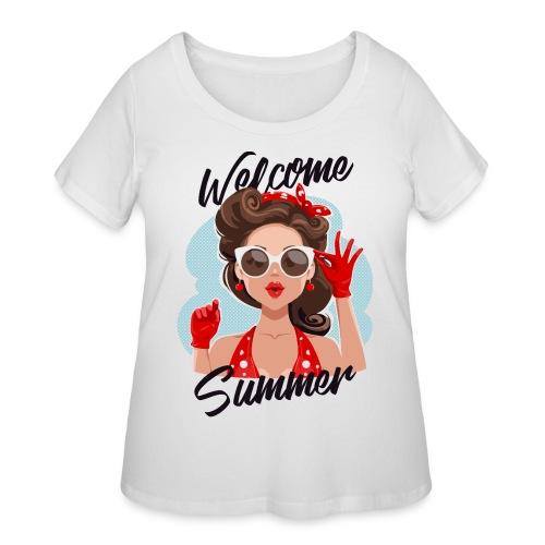welcome summer - Women's Curvy T-Shirt