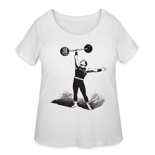 Women's 2Ton Sideshow Strongman Shirt - Women's Curvy T-Shirt