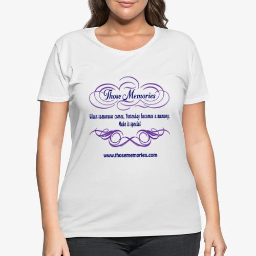 Those Memories Logo - Women's Curvy T-Shirt
