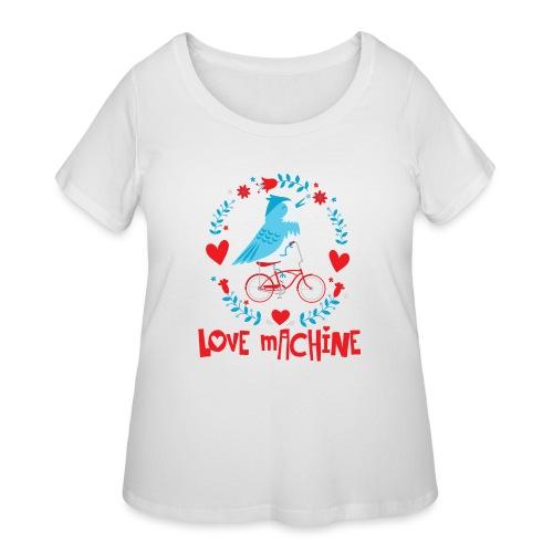 Cute Love Machine Bird - Women's Curvy T-Shirt