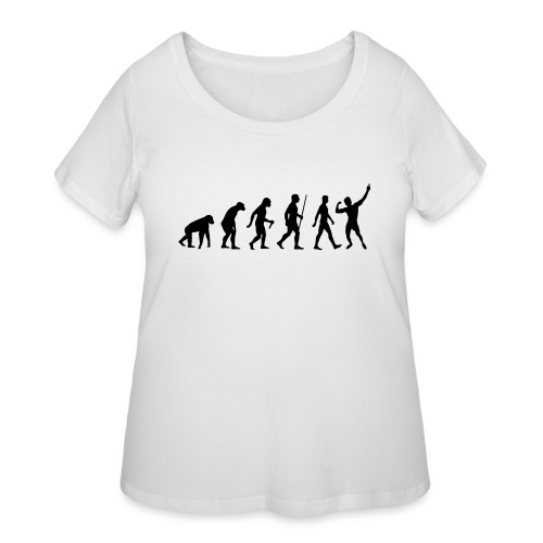 Evolution of Zyzz - Women's Curvy T-Shirt