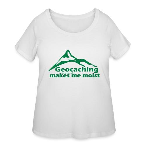 Geocaching in the Rain - Women's Curvy T-Shirt