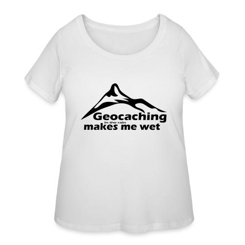 Wet Geocaching - Women's Curvy T-Shirt